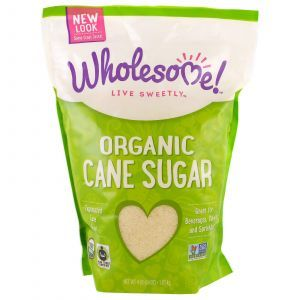 Тростниковый сахар, Cane Sugar, Wholesome Sweeteners, Inc., органик, 1,81 кг