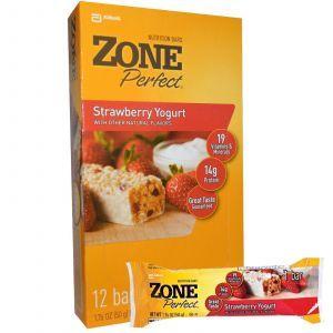 Батончики с клубничным йогуртом , Strawberry Yogurt, ZonePerfect, 12 бат.